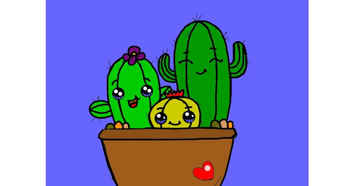 Drawing of Cactus by Vicki
