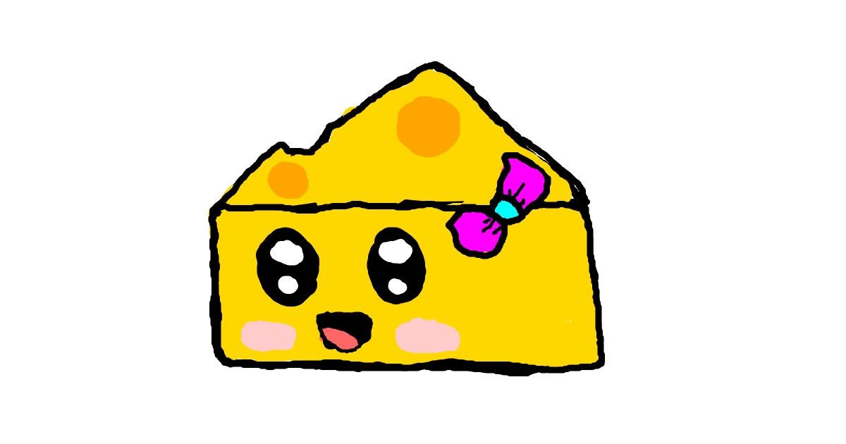 Drawing of Cheese by Jazzy
