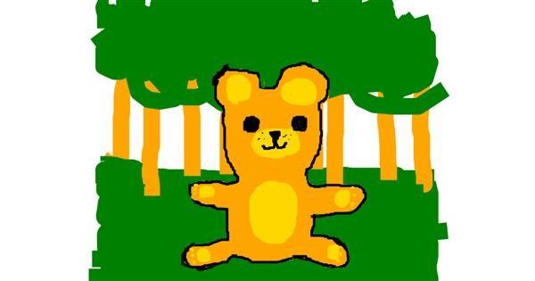 Bear drawing by MistyWlf