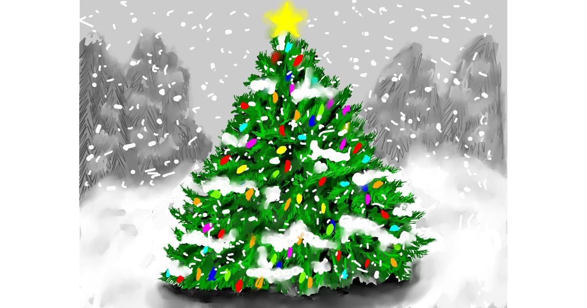 Christmas tree drawing by SAM AKA MARGARET 🙄