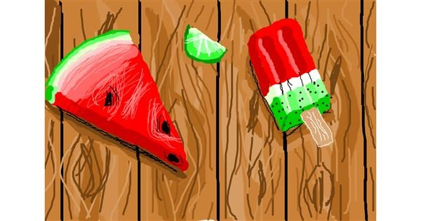 Watermelon drawing by #blessed🍕