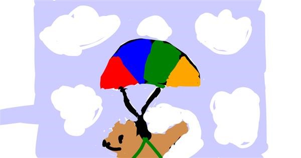 Parachute drawing by Dogemaster2.0