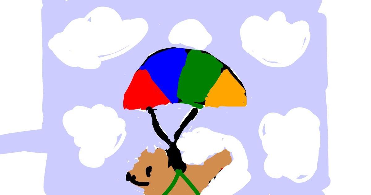 Parachute drawing by Dogemaster2.0