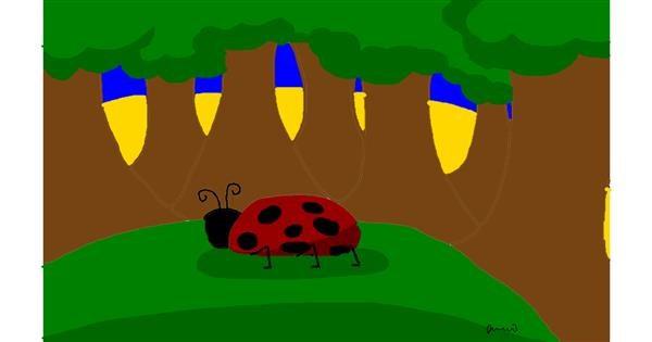Ladybug drawing by Jessica