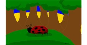 Ladybug drawing by Jessica