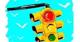 Traffic light drawing by Derp