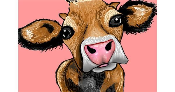 Cow drawing by Lollipop🍭