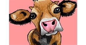 Drawing of Cow by Lollipop🍭