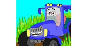 Drawing of Tractor by Shalinee