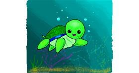 Sea turtle drawing by Cheese
