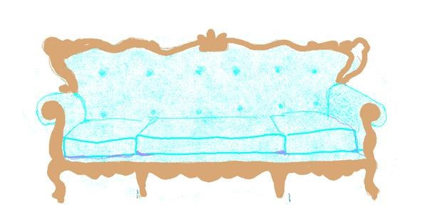 Couch drawing by Helena