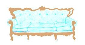 Drawing of Couch by Helena