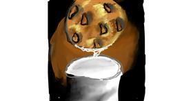 Drawing of Cookie by Peeko