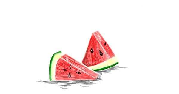 Watermelon drawing by Llama