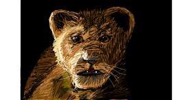 Drawing of Simba (Lion King) by Soaring Sunshine