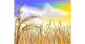 Drawing of Wheat by Bro 2.0😎