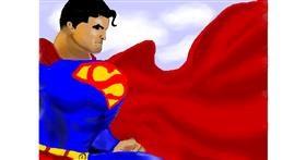 Superman drawing by Debidolittle