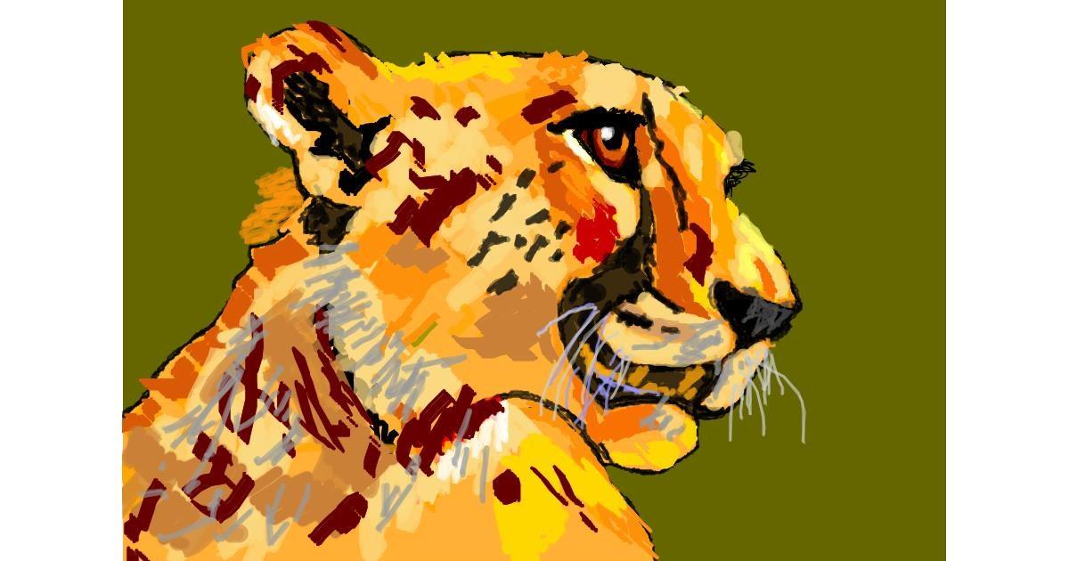Cheetah drawing by 𝐓𝐎𝐏𝑅𝑂𝐴𝐶𝐻™