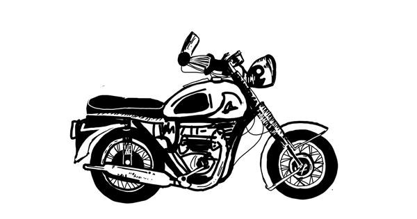 Motorbike drawing by MZ