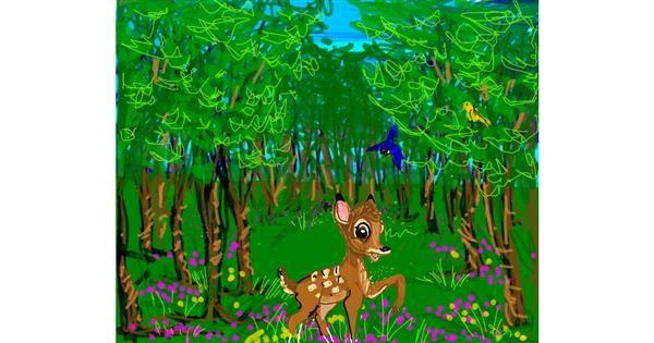 Bambi drawing by JCat