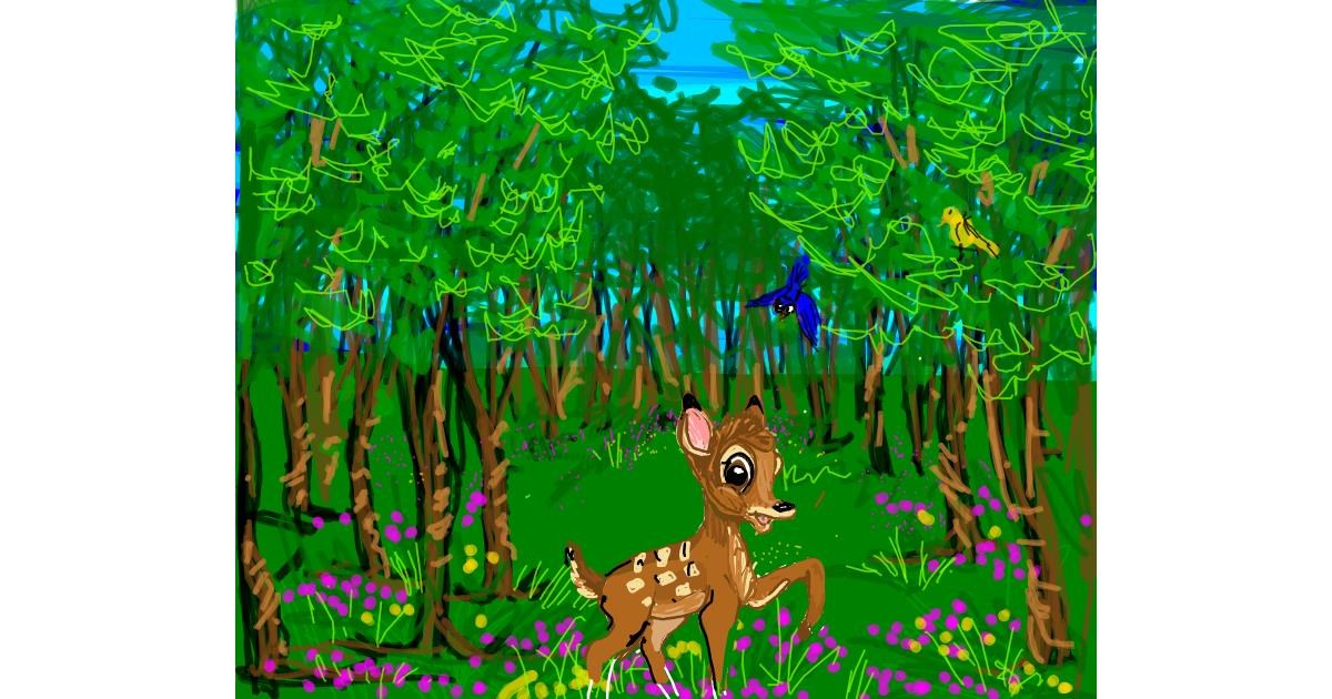 Drawing of Bambi by JCat
