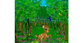Bambi drawing by JCat