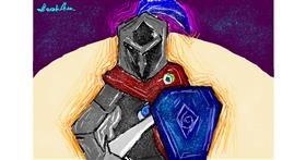 Knight drawing by saraharts