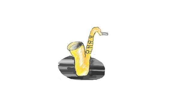 Saxophone drawing by coconut