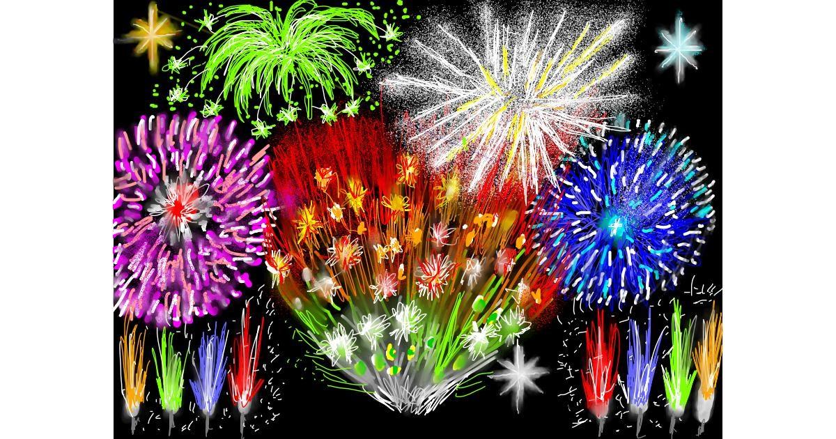 Fireworks drawing by SAM AKA MARGARET 🙄