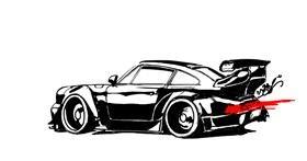 Car drawing by DJjessZ