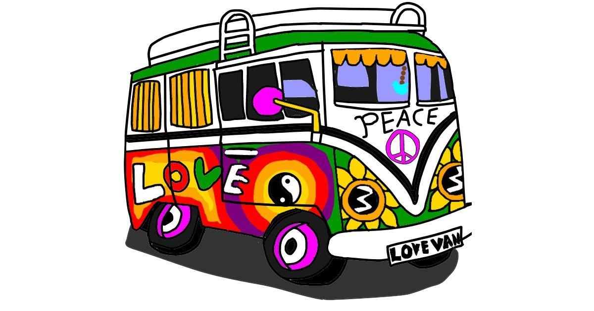 Drawing of Van by Holy Kirbo