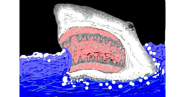Shark drawing by Josegreas