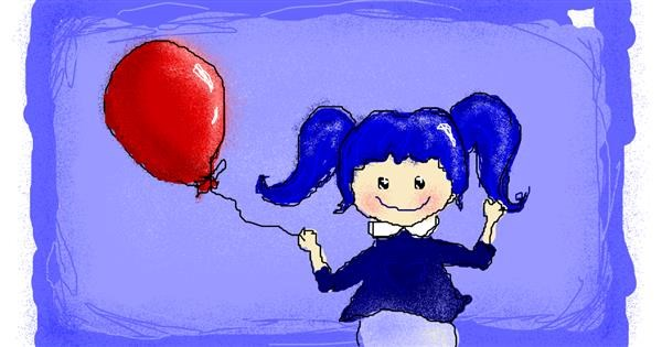 Balloon drawing by Paranoia