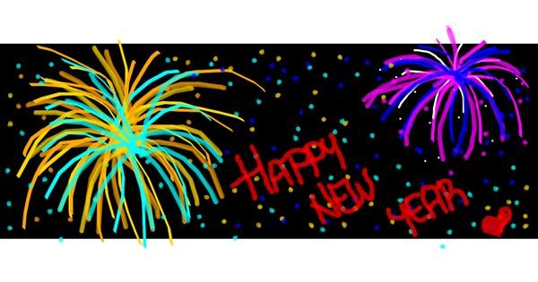 Fireworks drawing by Laura