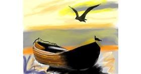 Boat drawing by Yashi 🐢