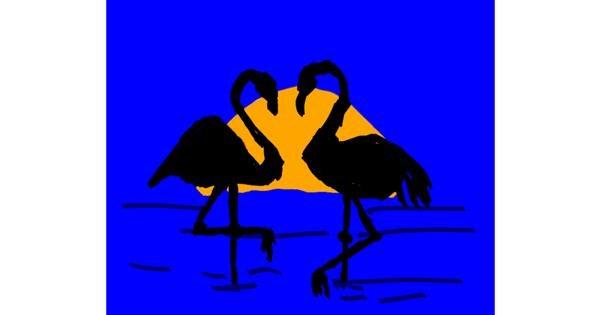 Flamingo drawing by Cherri