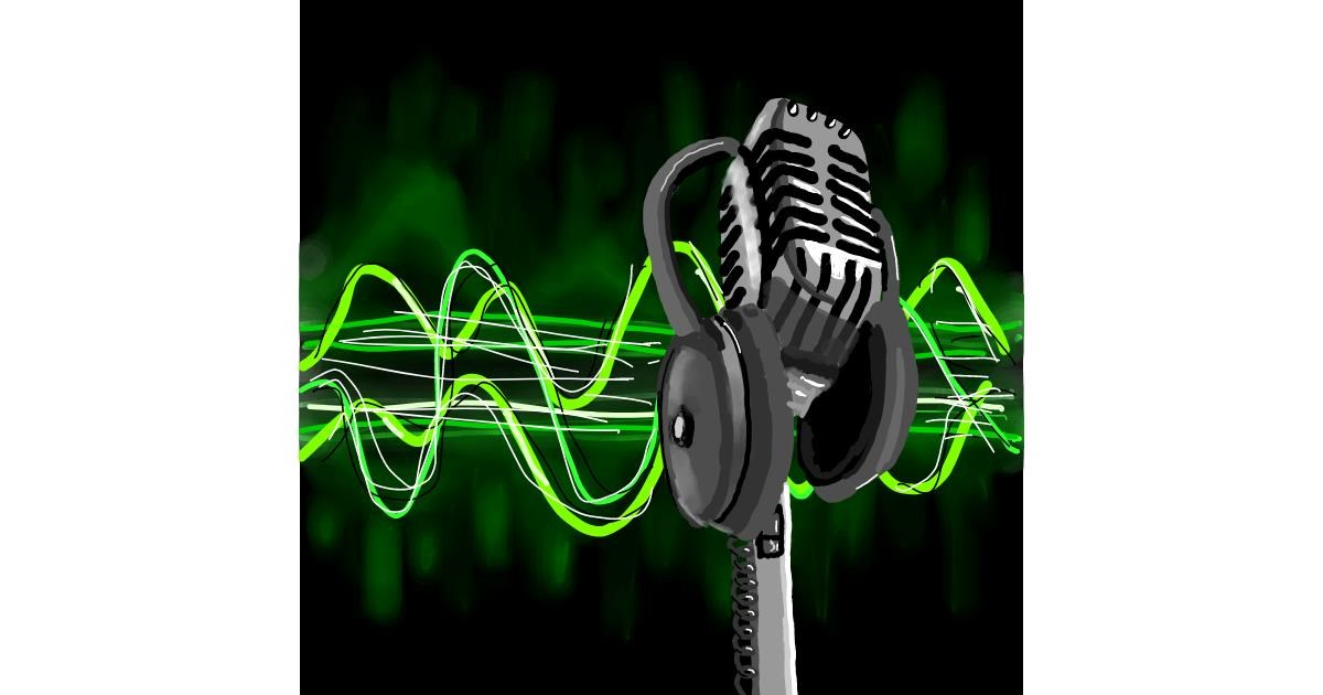 Microphone drawing by Joze