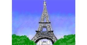 Eiffel Tower drawing by SAM AKA MARGARET 🙄