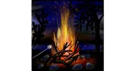 Campfire drawing by Leah
