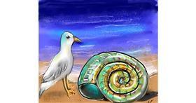 Seashell drawing by Leah