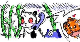 Panda drawing by Sheryl3