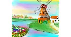Windmill drawing by Bro 2.0😎