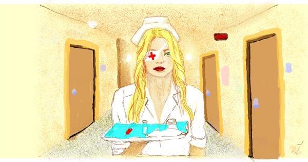 Nurse drawing by Helena