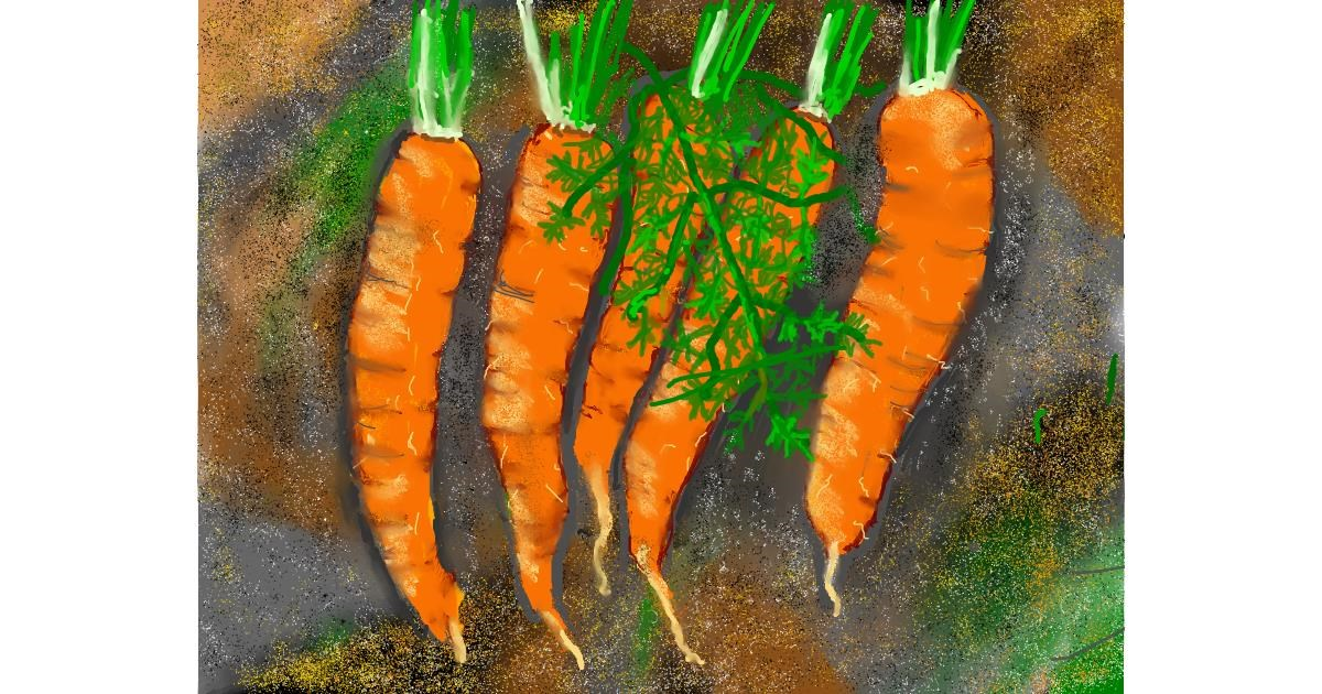 Carrot drawing by SAM 🙄