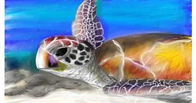 Drawing of Sea turtle by Soaring Sunshine