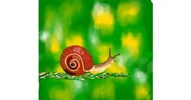Snail drawing by Joze