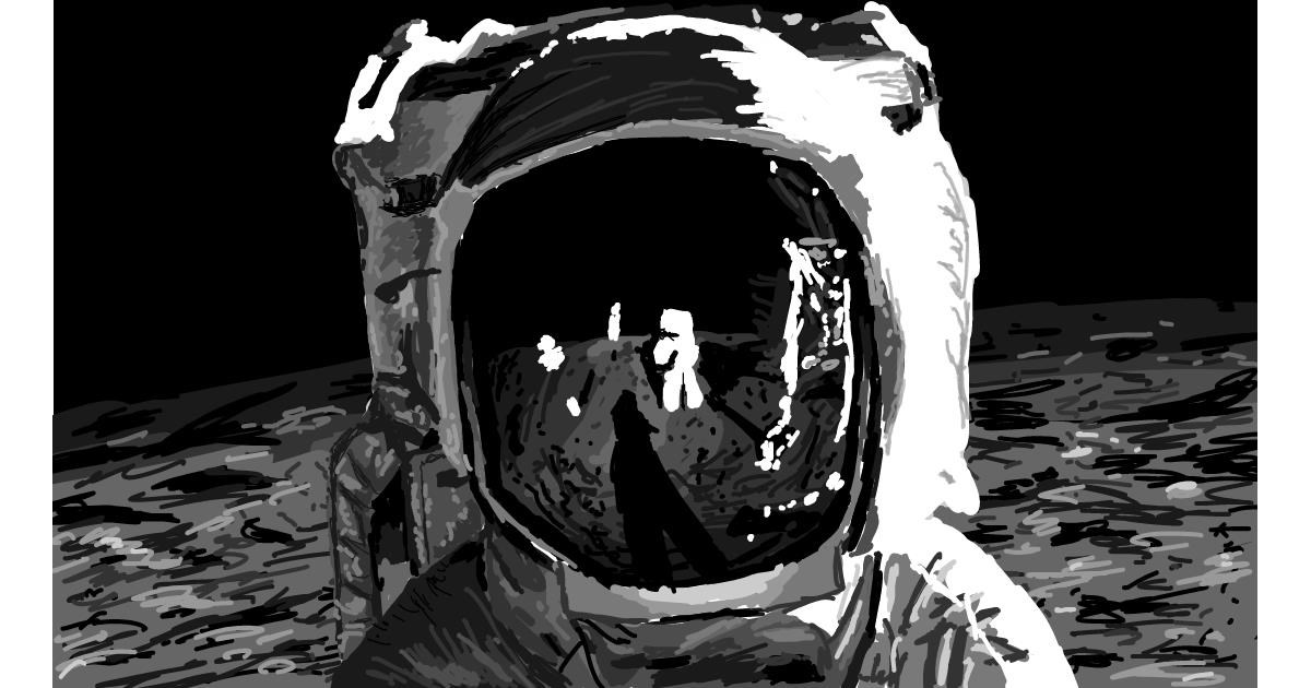 Astronaut drawing by Sam