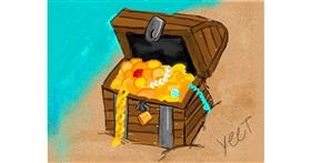 Treasure chest drawing by Yeet06