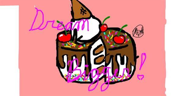 Cake drawing by Kanaary