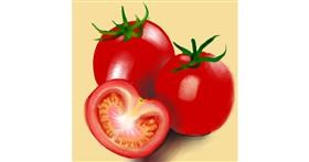 Tomato drawing by Namie